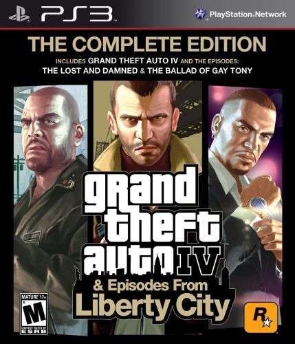 Обложка диска Grand Theft Auto IV: The Complete Edition для PlayStation 3