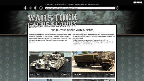 Сайт Warstock Cache & Carry